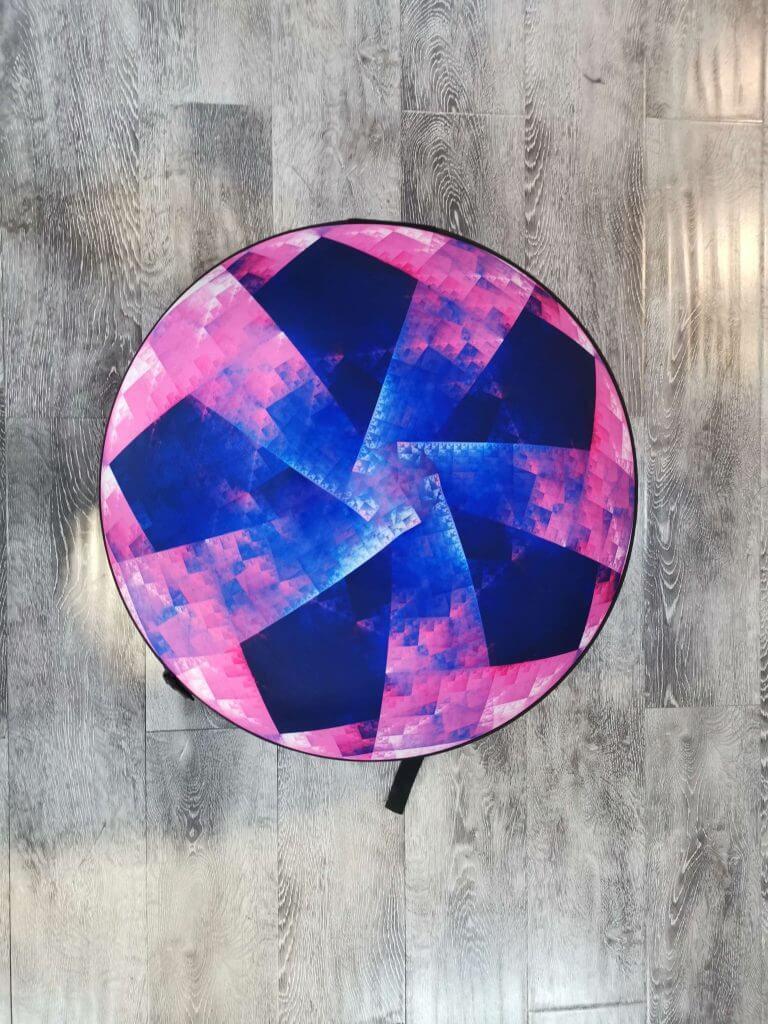 Handpan Hard Case in Pink & Blue by NovaPans Handpans