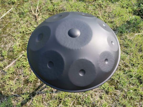 8 Note Handpan in F Akebono Minor in Black